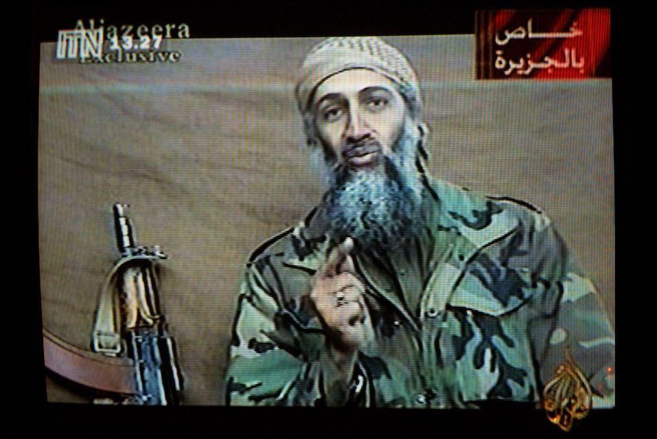 A videotape released by Al-Jazeera TV featuring Osama Bin Laden is broadcast in Britain