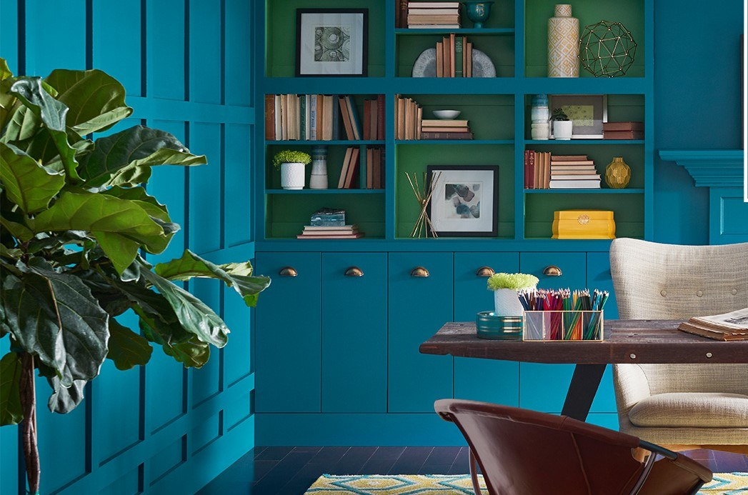 Sherwin-Williams Oceanside Blue paint