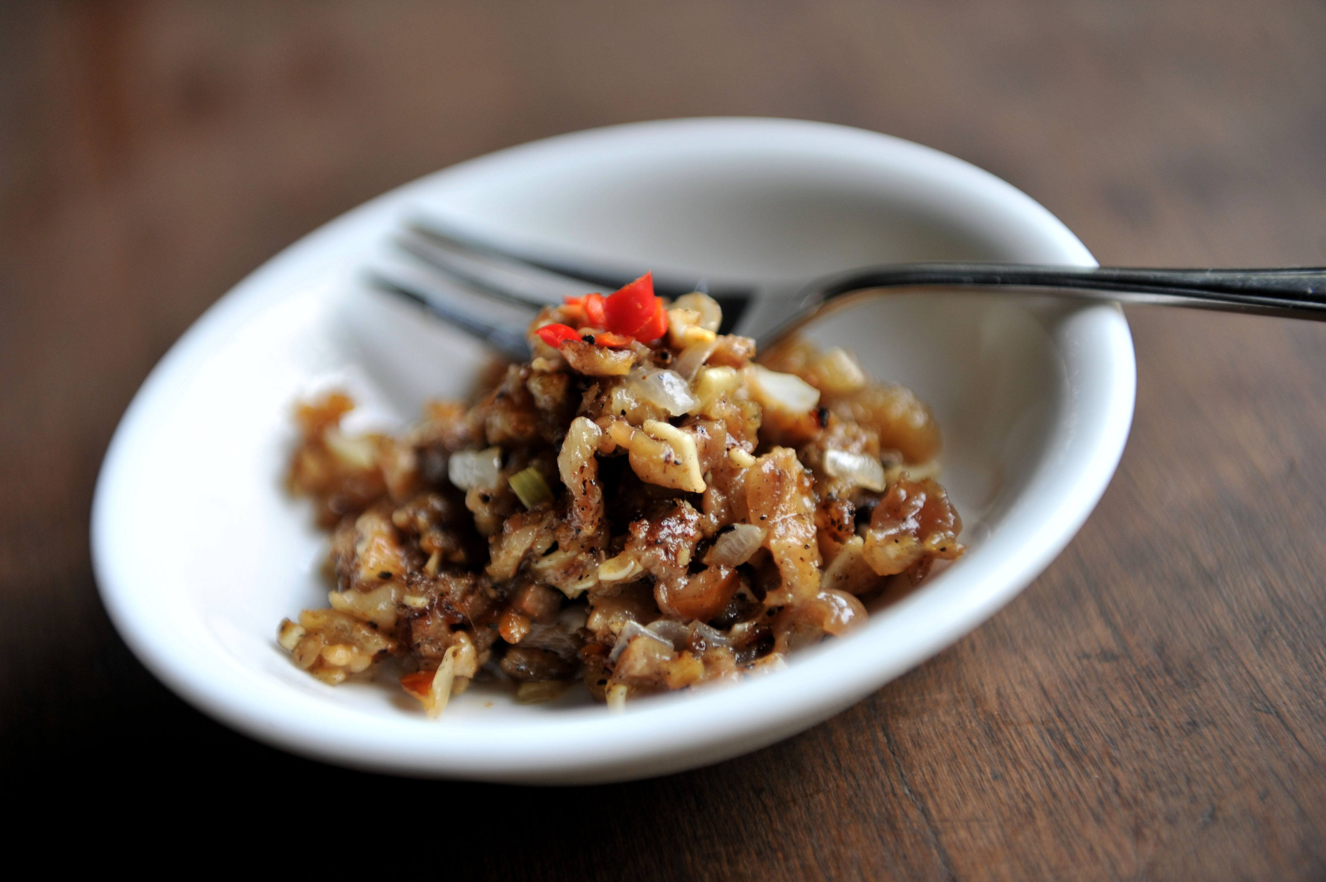 Sisig cuisine from the Phillipines