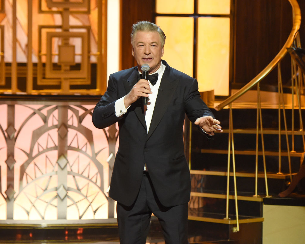 Alec Baldwin speaks onstage during 'Spike's One Night Only: Alec Baldwin' at The Apollo Theater
