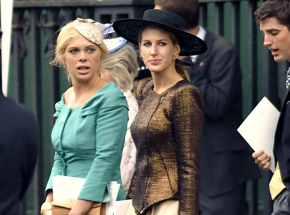 Susanna Warren and Chelsy Davy leaves the Royal Wedding of Prince William