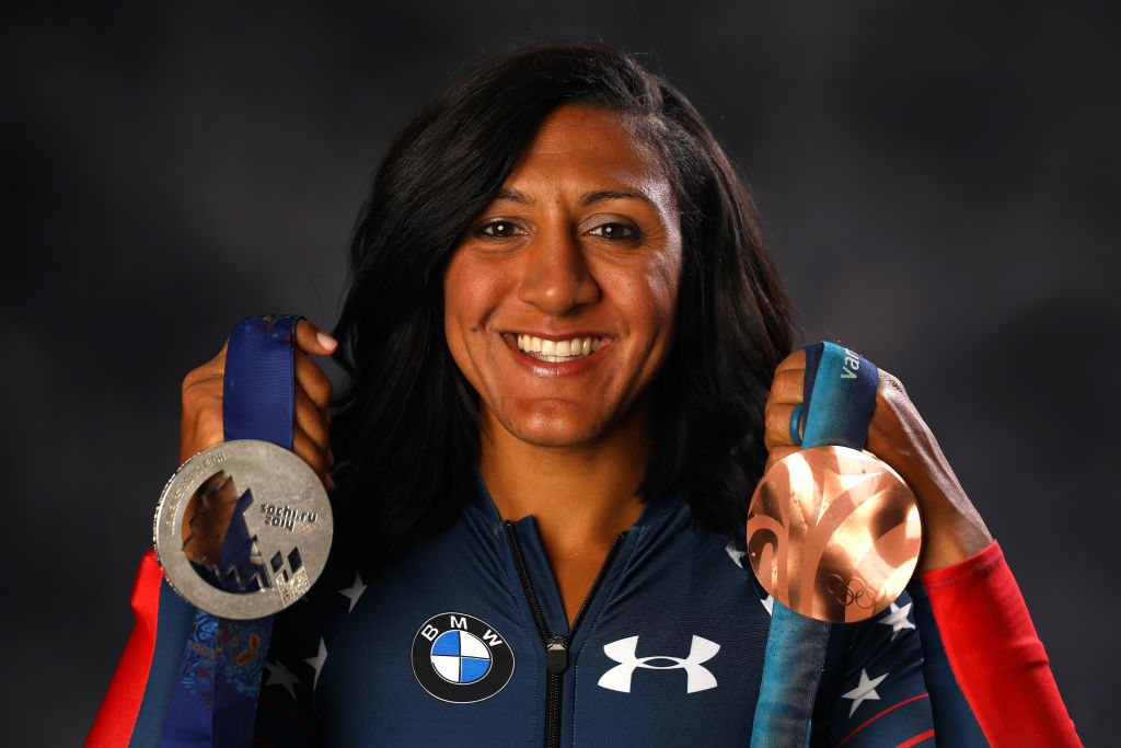Bobsledder Elana Meyers Taylor poses for a portrait during the Team USA Media Summit