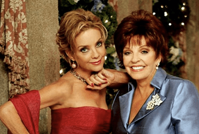 Two characters posing together in 'The Young and The Restless'.