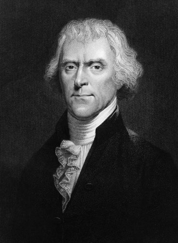 Thomas Jefferson in a painting.