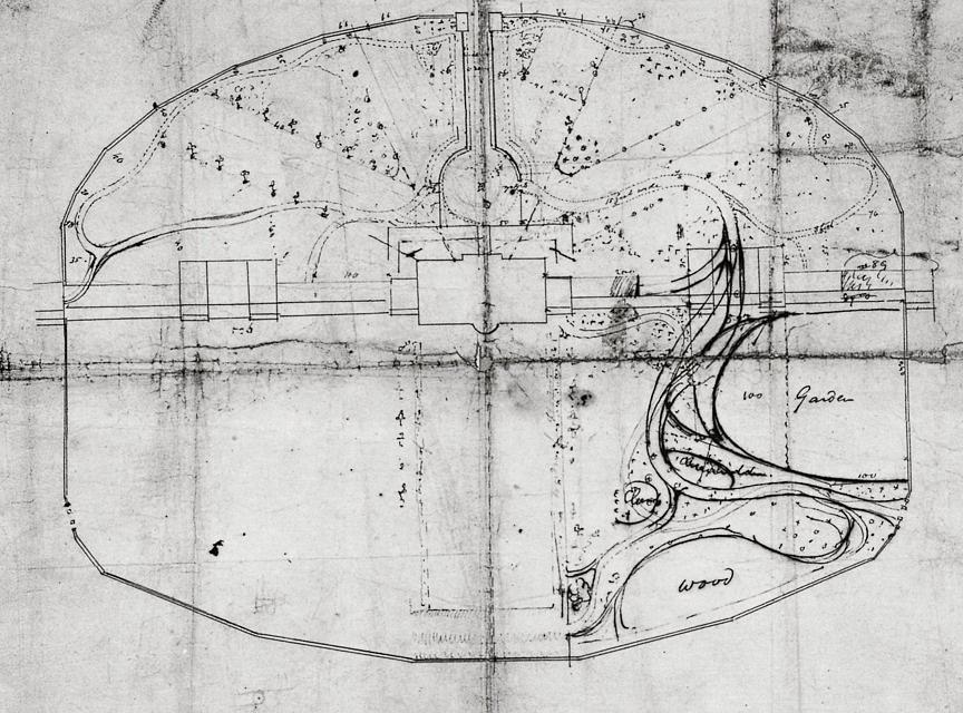 Thomas Jefferson White House garden plan