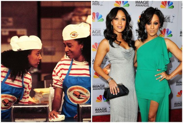Tia and Tamera Mowry collage.