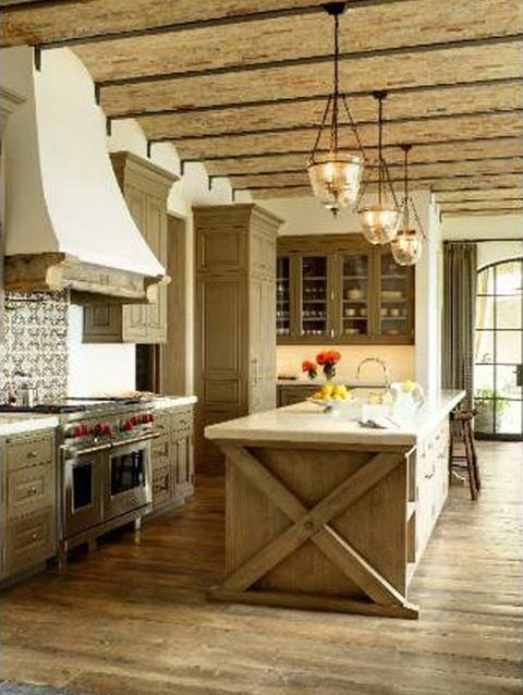 Tom Brady LA house kitchen