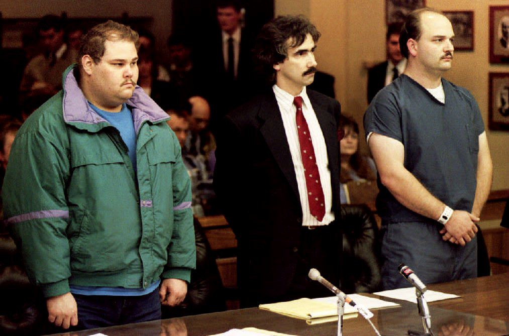 Shawn Eric Eckardt (L), bodyguard of figure skater