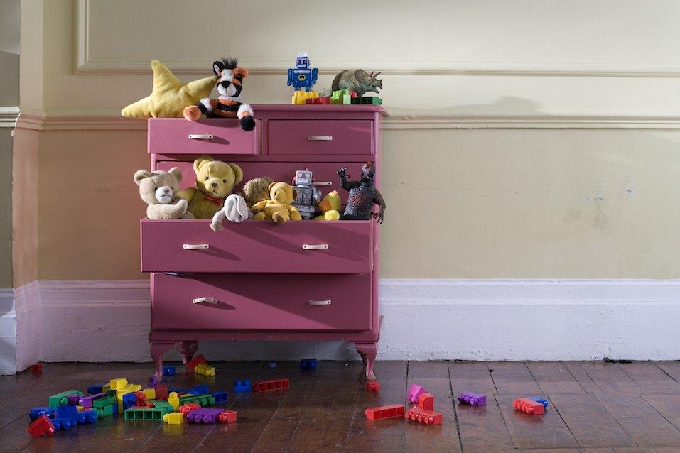 Toys in a dresser