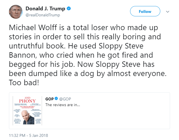 Trump-Tweet-Michael-Wolff