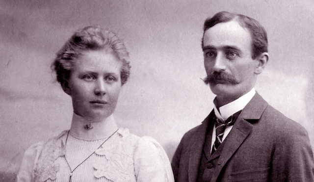 Photo of Frederich with his wife.
