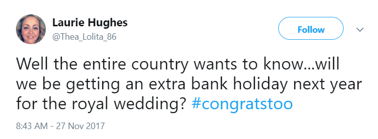 Tweet royal wedding