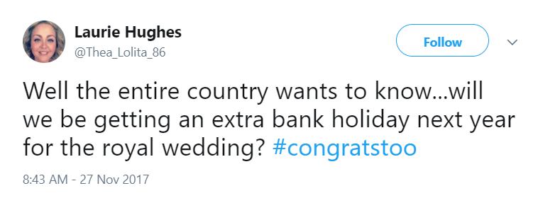Tweet royal wedding