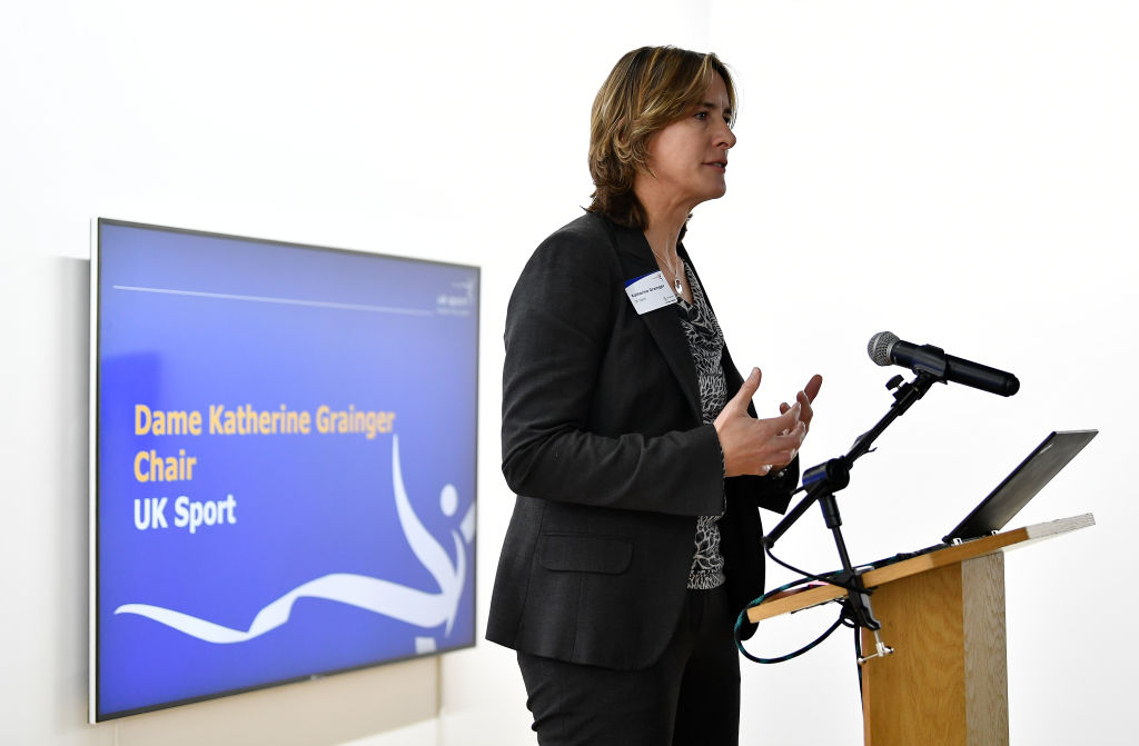 Dame Katherine Grainger, Chair of UK Sport speaks during the UK Sport Medal Target Announcement for Pyeongchang 2018 Winter Olympic