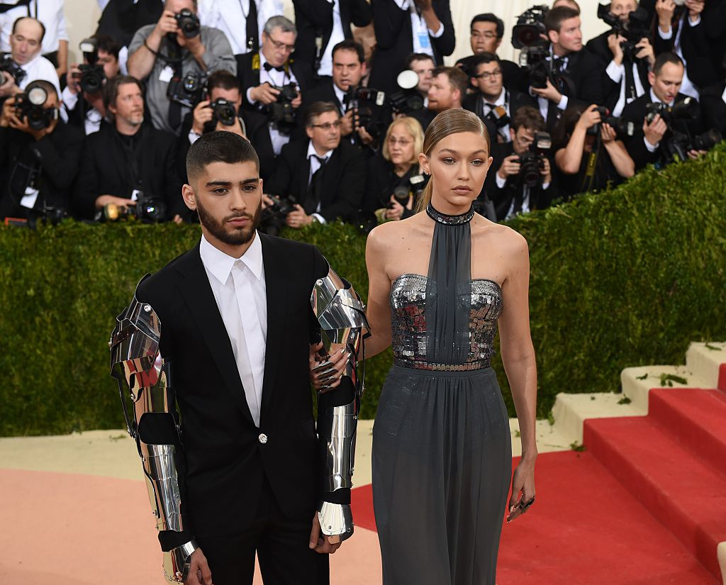 Gigi Hadid and Zayn Malik arrive for the Costume Institute Benefit at The Metropolitan Museum of Art