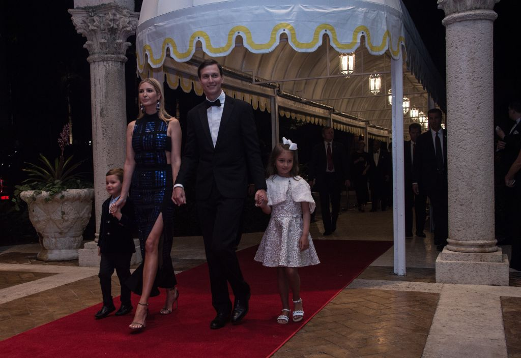 Ivanka Trump, her husband Jared Kushner and their children Arabella and Joseph