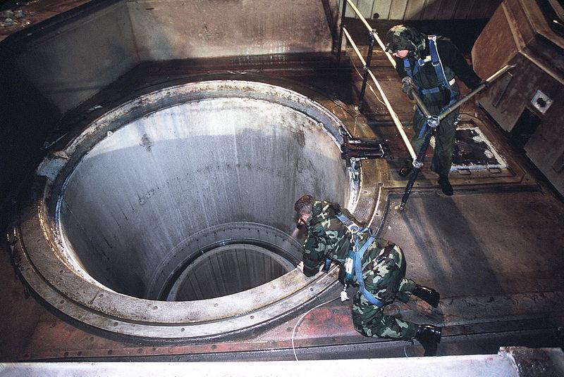 Underground missile launch silo