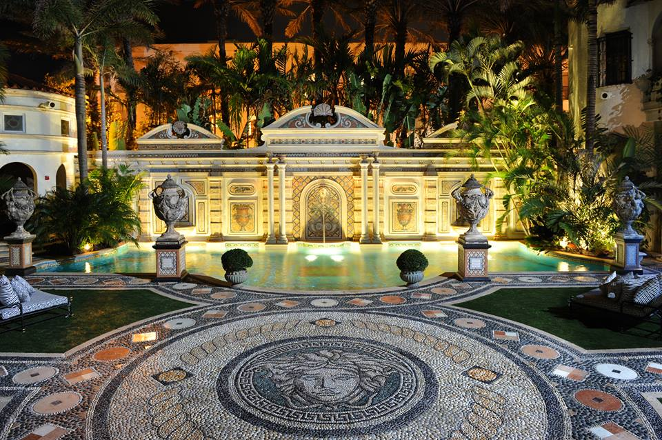 Versace Mansion Backyard