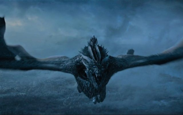 Viserion dragon on 'Game of Thrones'.