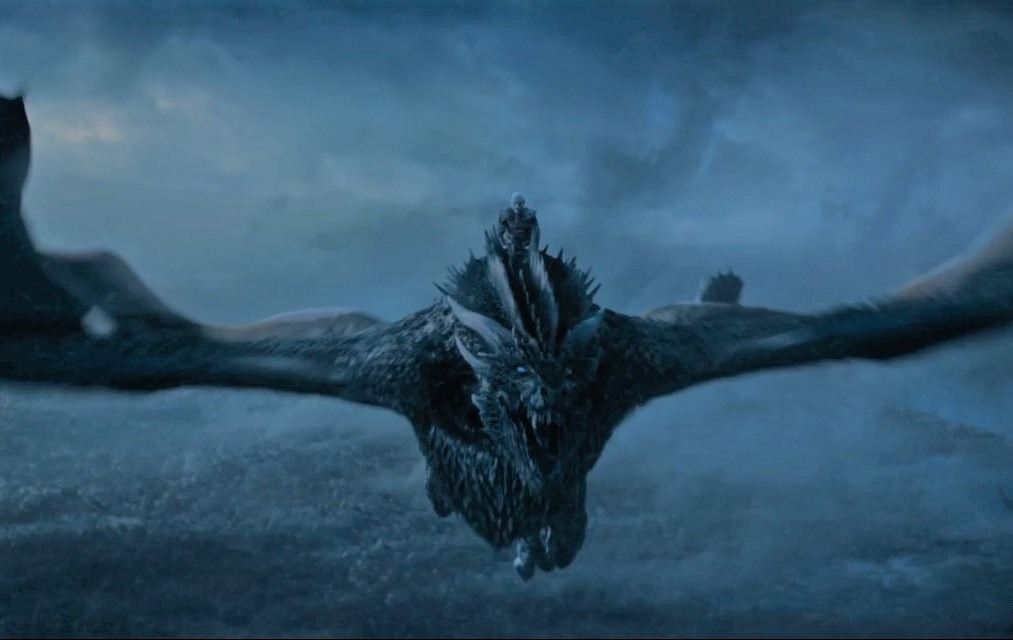 Viserion dragon on Game of Thrones