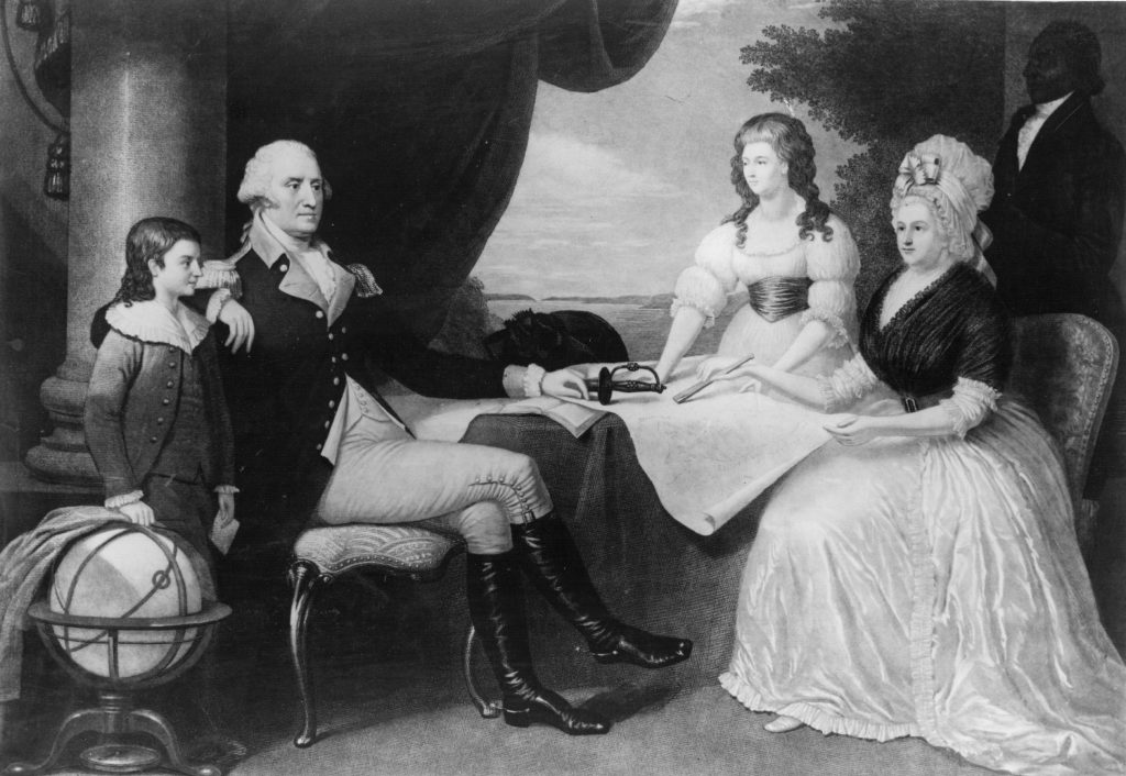 George Washington with family