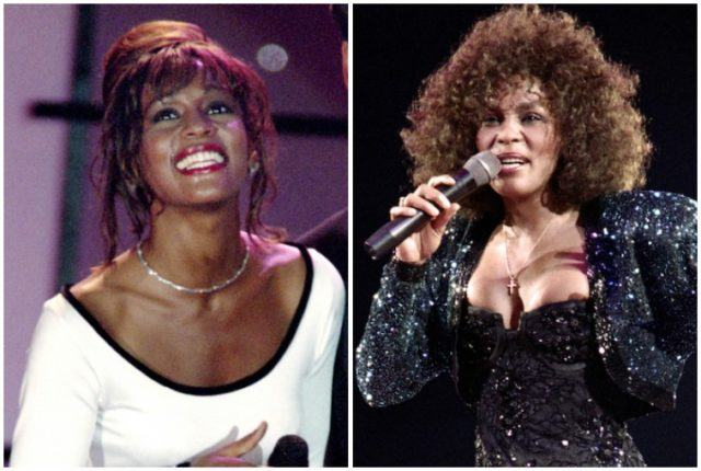 Whitney Houston collage.