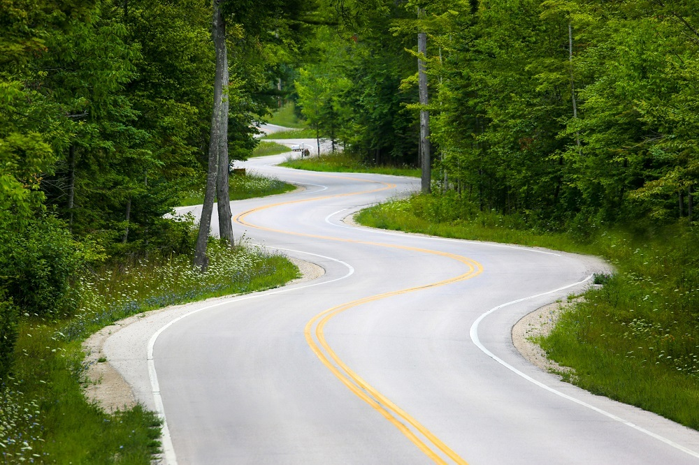 Winding road in Wisconsin
