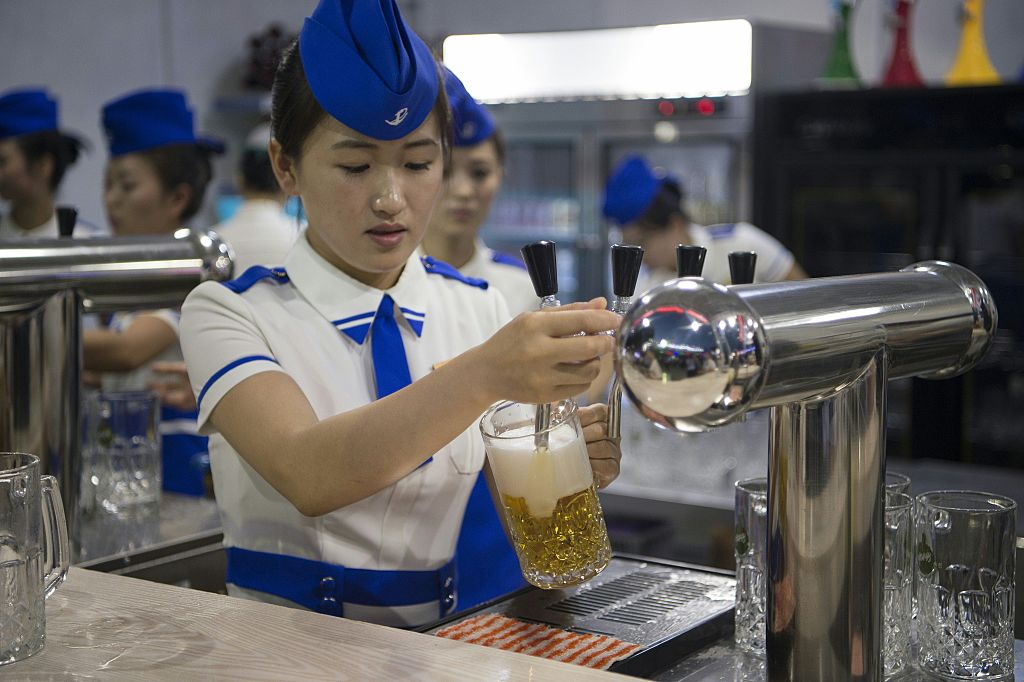 North Korea lifestyle beer