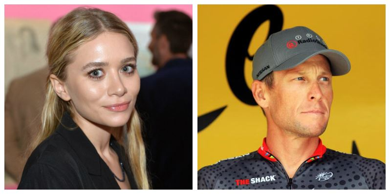 A composite image of Ashley Olsen and Lance Armstrong