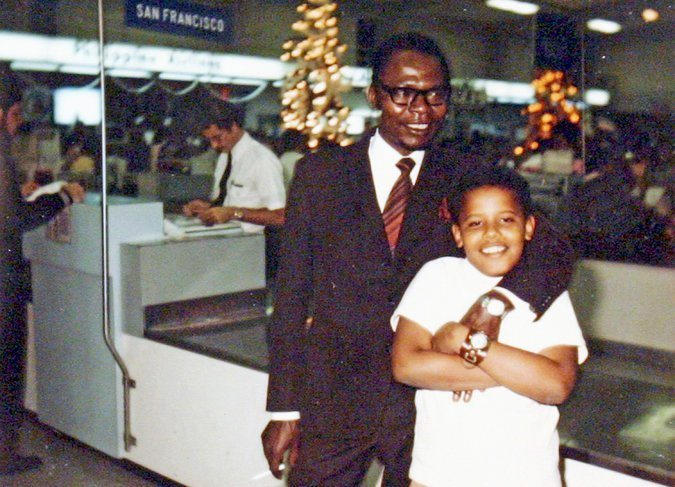 Obama and his father, Barack Obama Sr.