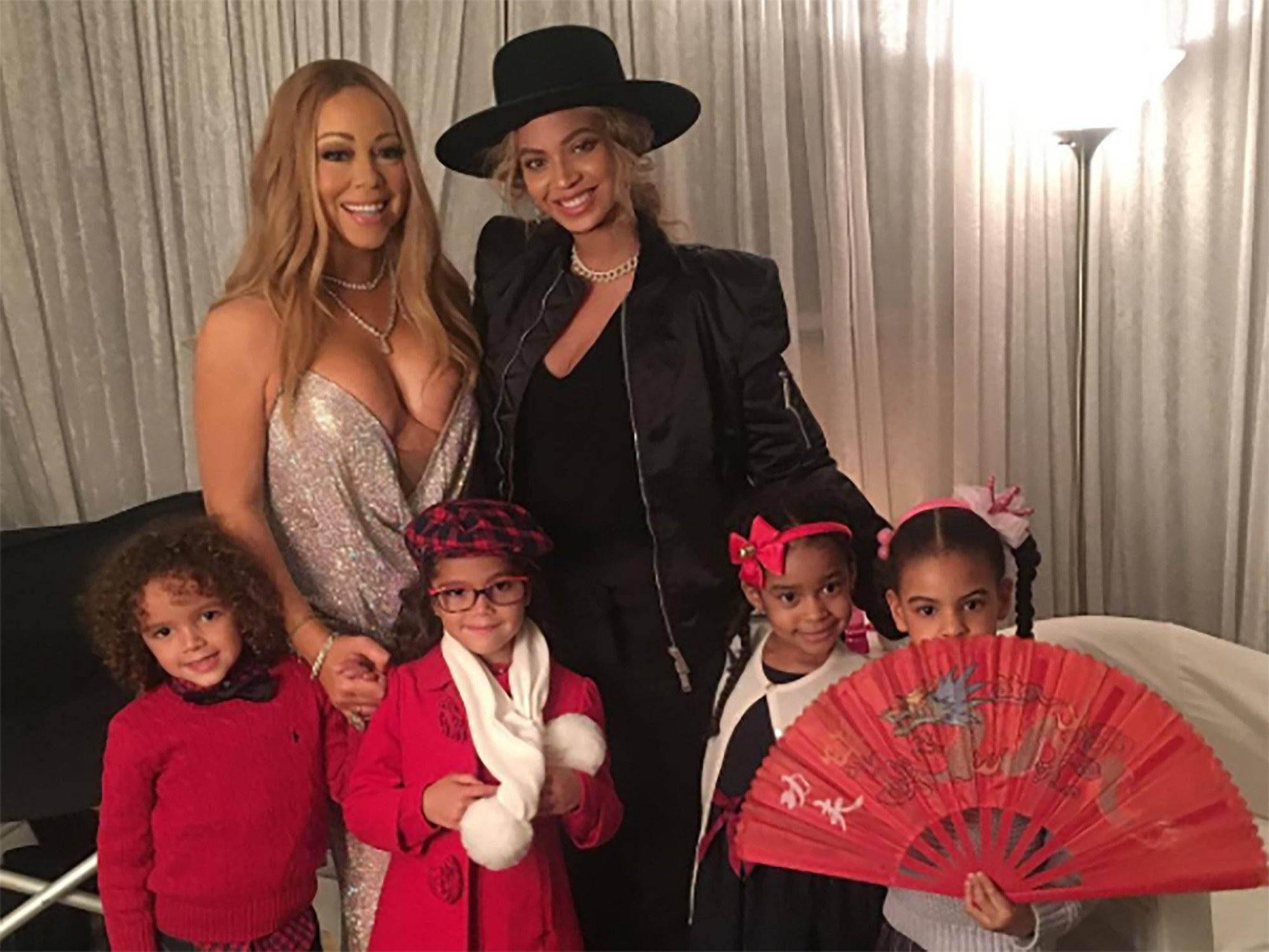 Mariah Carey Beyonce, and their kids
