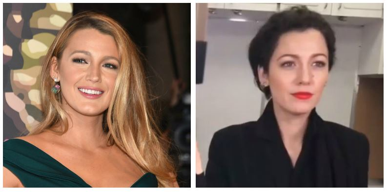 A composite image of Blake Lively showing drastic hair changes