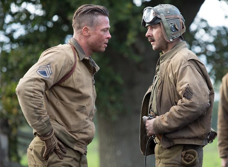 Brad Pitt and Shia LaBeouf in Fury