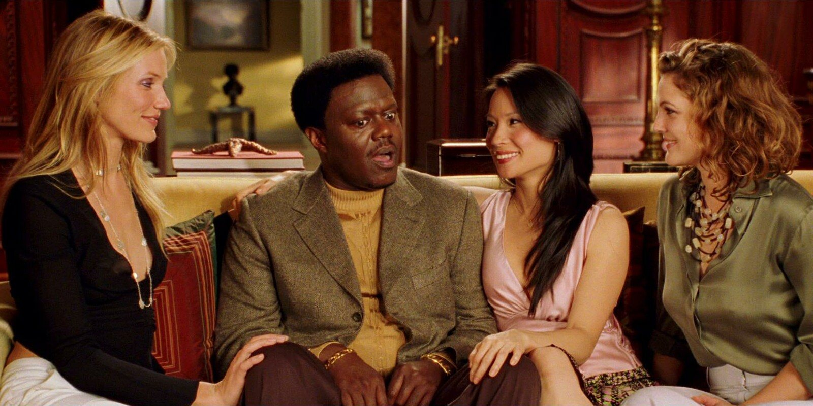 Cameron Diaz, Bernie Mac, Lucy Liu, and Drew Barrymore in Charlie's Angels: Full Throttle