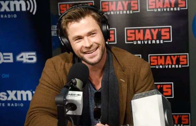 Chris Hemsworth on SiriusXM radio