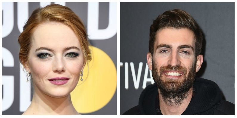 A composite image of Emma Stone and Dave McCray