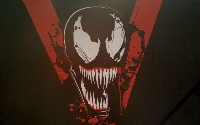 The Venom movie logo on a black background
