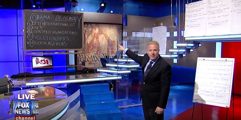 "Glenn Beck misspelled ""oligarchy"" on Fox News"