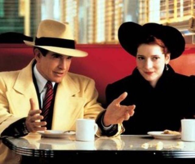 Warren Beatty and Glenne Headly in Dick Tracy