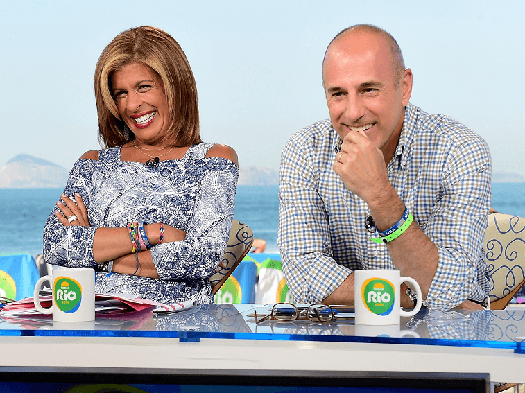 Hoda Kotb and Matt Lauer