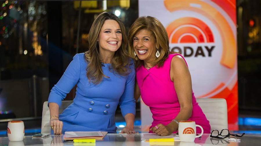 Savannah Guthrie and Hoda Kotb on the Today show