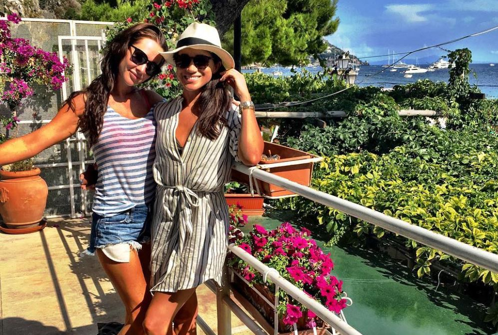 Meghan Markle (right) with her close friend, Jessica Mulroney