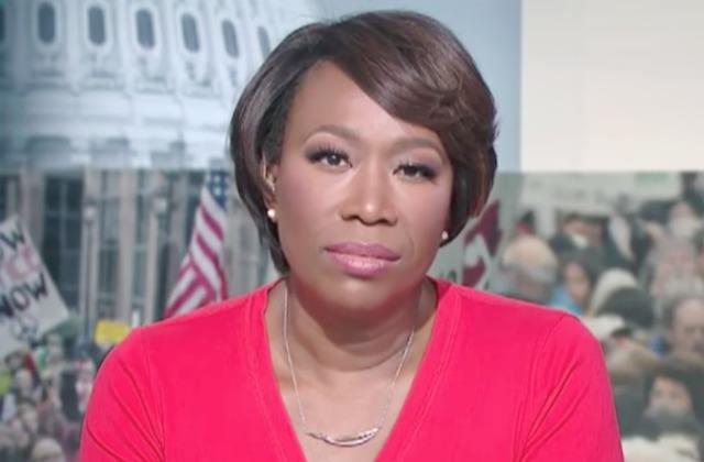 Joy Reid looks into the camera
