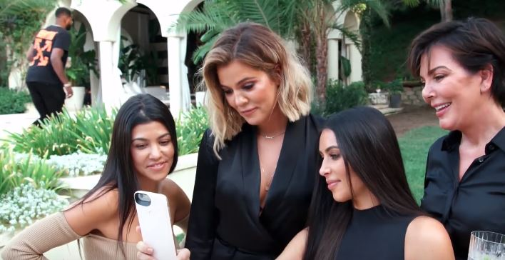 The Kardashian sisters and Kris Jenner Facetime Kylie