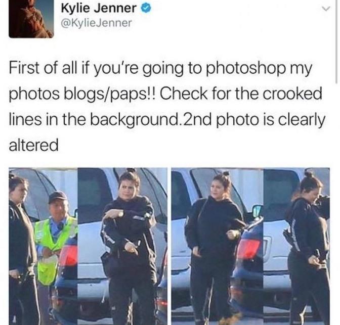 Kylie Jenner photoshop tweet