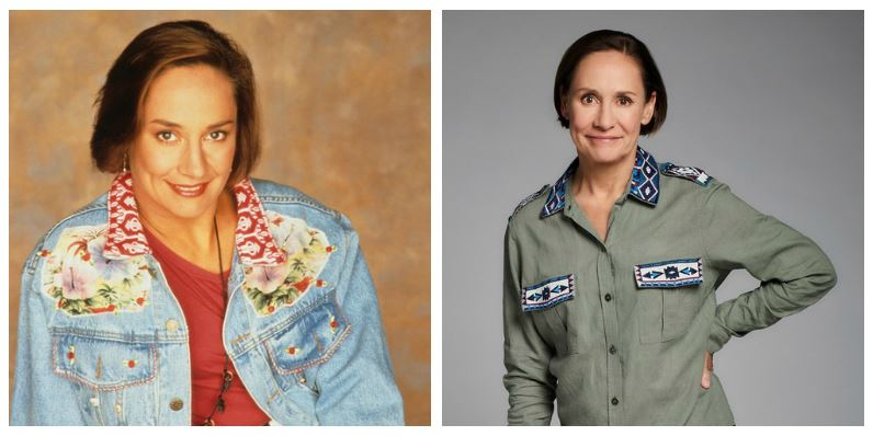 Laurie Metcalf then and now
