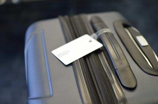Airport Suitcase with luggage tag