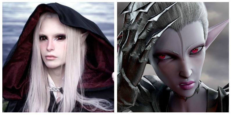 A composite image of Luis Padron and a character from Throne of Elves