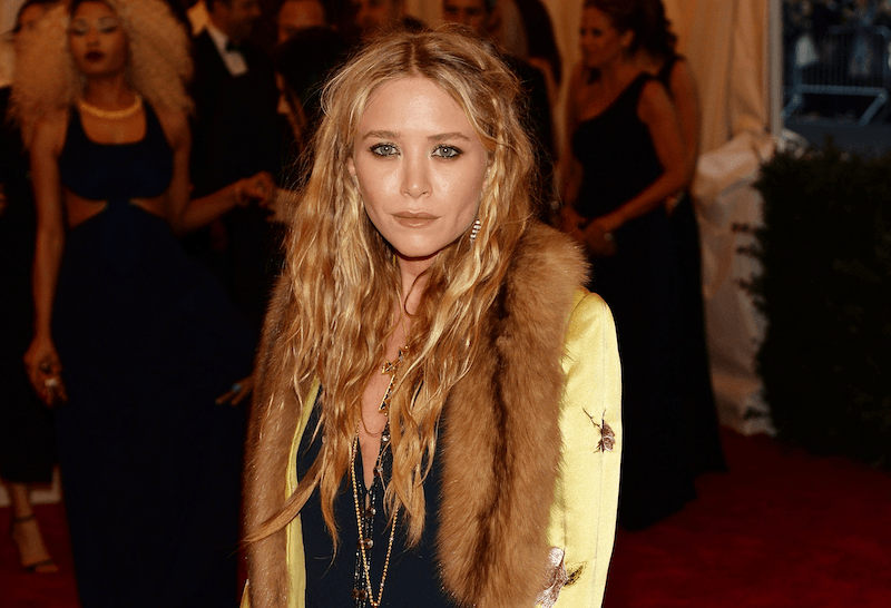Mary Kate Olsen poses at the Met Gala