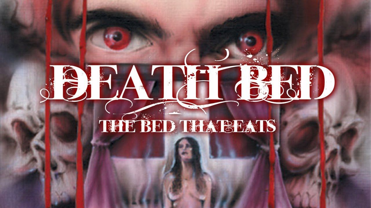 The title card Death Bed: The Bed That Eats
